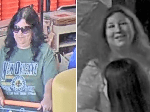 Smirking wedding crasher keeps posing as guest then stealing newlyweds' gifts