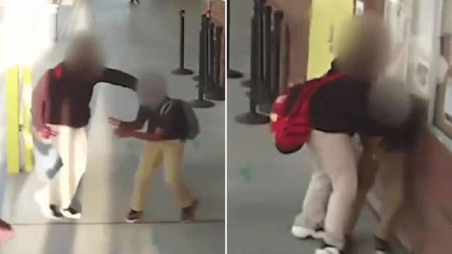 Moment school bully attacks much smaller boy 'leaving him with brain and spinal damage'