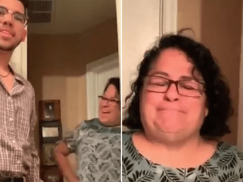 Mum bursts into tears when her son wears his late dad's shirt for their 'date night'