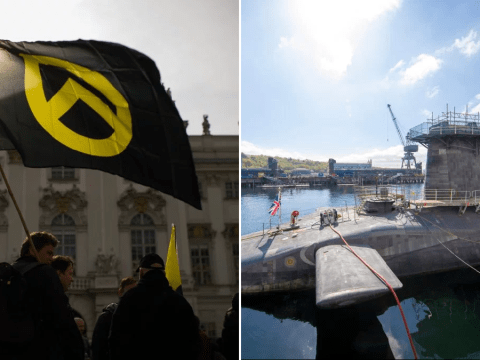 Royal Navy sailor set to work on Trident submarine is member of 'far-right group'