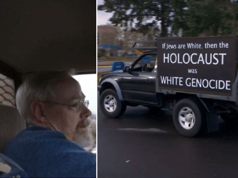People disgusted by man who drives around with 'racist' signs on car
