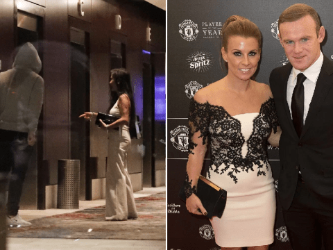 Wayne Rooney pictured at hotel with another woman in early hours after all-night bender
