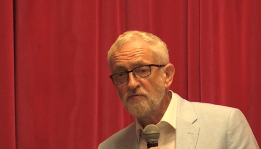 Corbyn mocked Johnson at an event in Glasgow before he returns to London when Parliament resumes