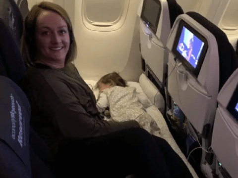 Mum reveals upgrade hack that lets you turn economy seats into a giant bed for long haul flights