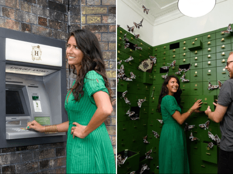This ATM is actually a secret passageway to free gin