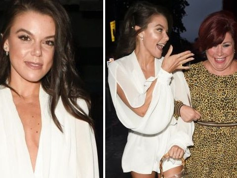 Coronation Street's Faye Brookes all smiles as she ignores Gareth Gates split drama on night out