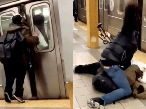 Passenger gets knocked out after spitting at man through train doors