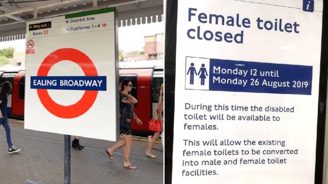 Ealing Broadway female toilets