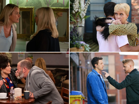 12 soap spoiler pictures: EastEnders shock confession, Coronation Street attack, Emmerdale baby lie, Hollyoaks decision