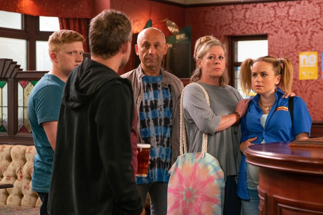 Paul faces Kel in Coronation Street