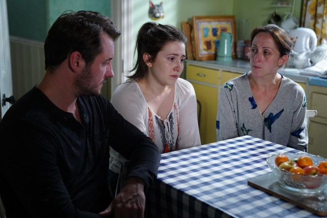 bex, sonia and martin fowler on eastenders