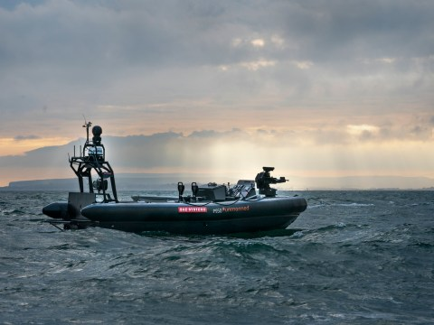 BAE Systems has been showcasing its autonomous boat at London arms expo