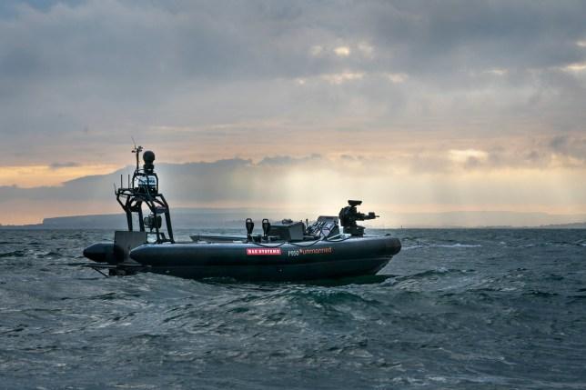 BAE Systems' P950 autonomous rigid inflatable boat (BAE)