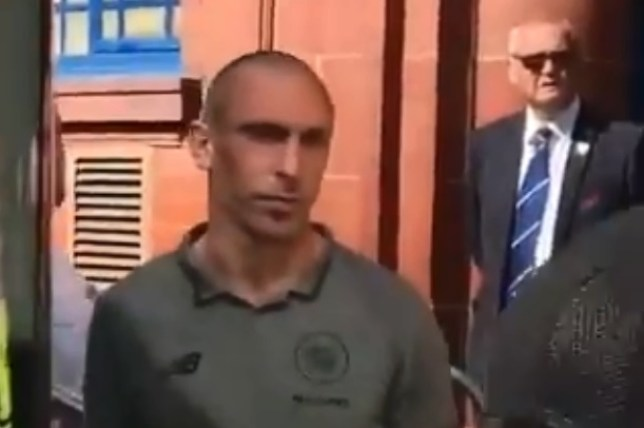 Celtic captain Scott Brown was confronted by a Rangers fan outside Ibrox and taunted over his sister's death in 2008