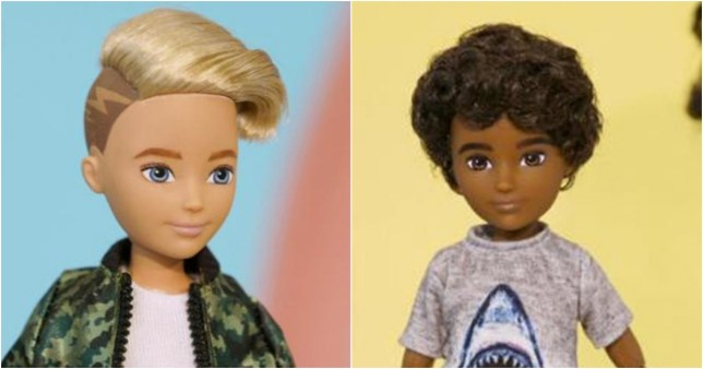 Children will be able to dress the dolls in skirts or trousers and give them short or long hair (Picture: Mattel)