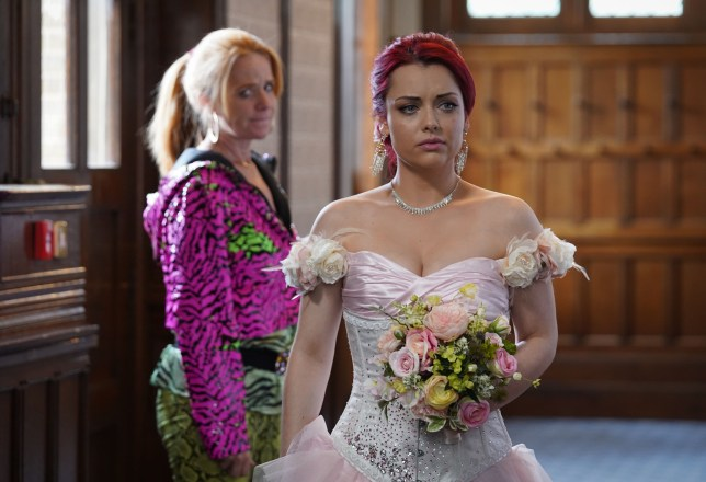 Whitney Dean (Shona McGarty) and Bianca Butcher (Patsy Palmer) chat ahead of her big day on Eastenders