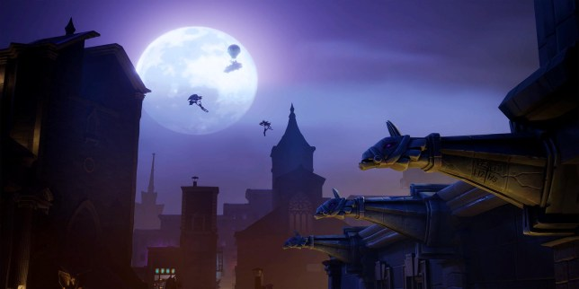 A gloomy moonlight lit loading screen datamined from Fortnite battle royale game