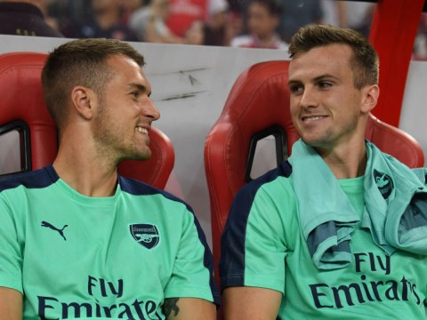 Aaron Ramsey sends class message to 'skip' Rob Holding after long-awaited Arsenal return