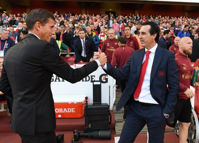 Unai Emery and Javi Gracia bumped into each other away from the touchline for once