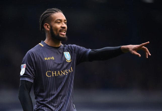 Michael Hector issues instructions while playing for Sheffield Wednesday