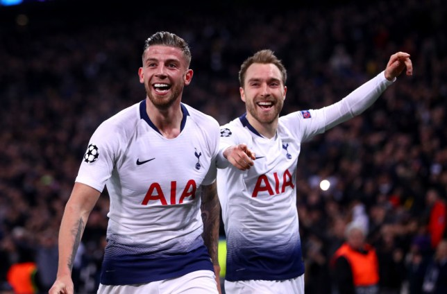 Toby Alderweireld and Christian Eriksen