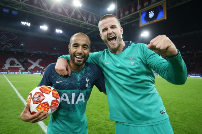 Lucas Moura and Eric Dier