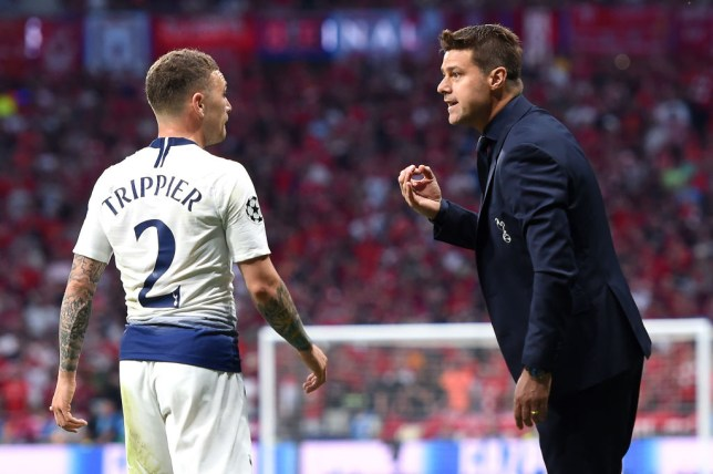 Mauricio Pochettino issues instructions to Kieran Trippier during the Champions League final