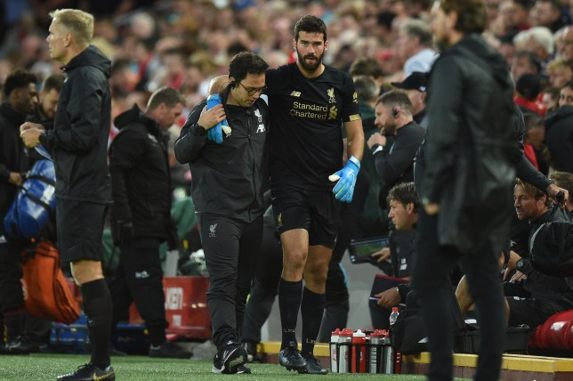 Alisson suffered a calf injury in Liverpool's opening match of the Premier League season