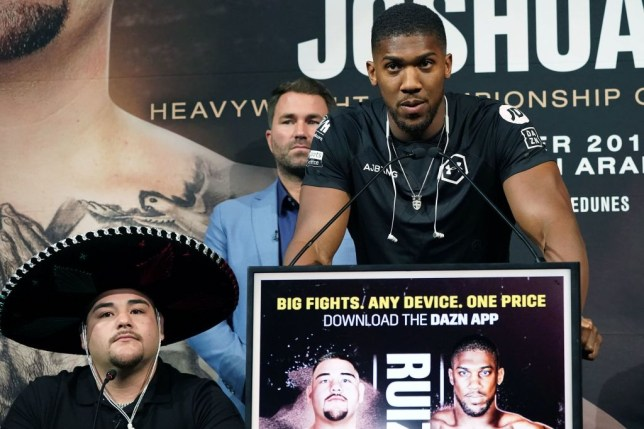 Anthony Joshua takes swipe at Tyson Fury and says he'll refuse Andy Ruiz Jr. a rematch