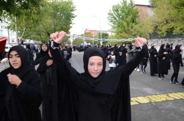 Ashura commemoration procession in Turkey's Kars