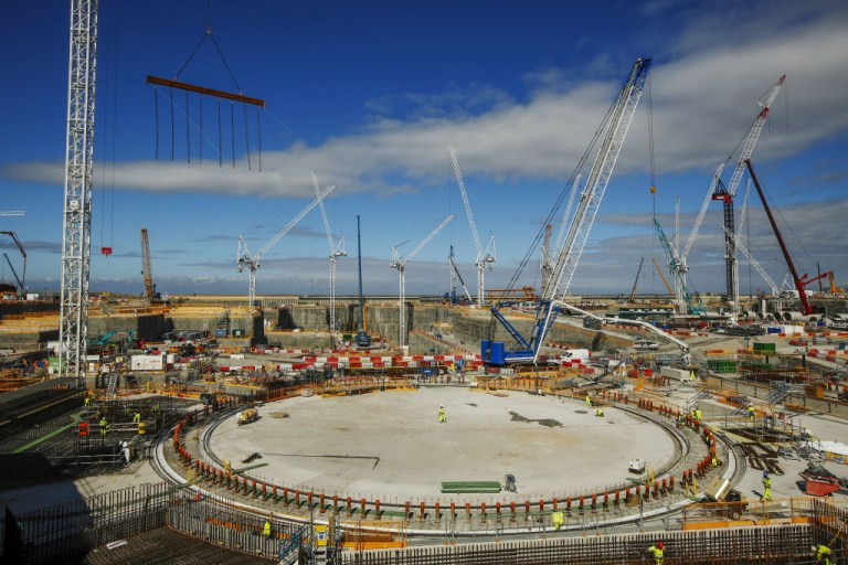 Hinkley Point C is using the world's largest cranes to build the facility, at a predicted total cost of £20bn (Picture: Getty Images)