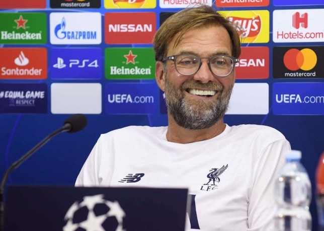 A photo of Jurgen Klopp as Liverpool take on Napoli in the Champions League