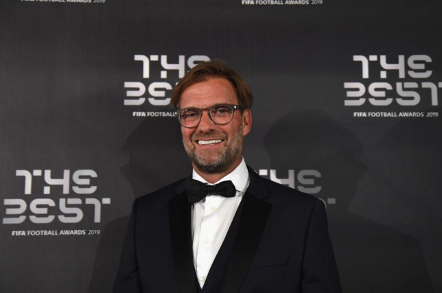 Jurgen Klopp pictured at the FIFA Best awards