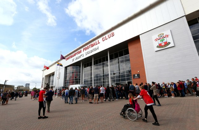 St Mary's stadium in Southampton