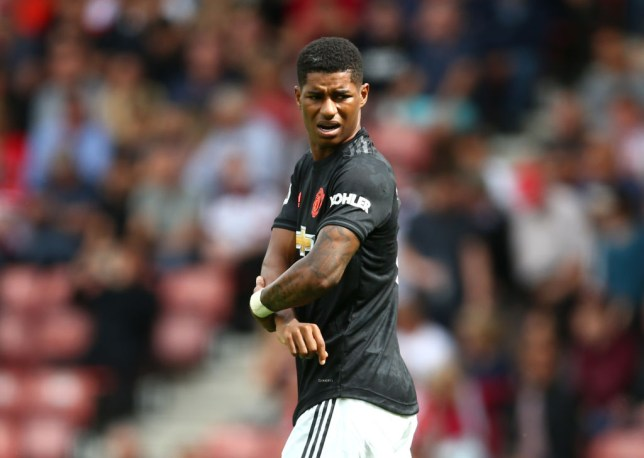 Marcus Rashford played through the middle in Manchester United's draw with Southampton