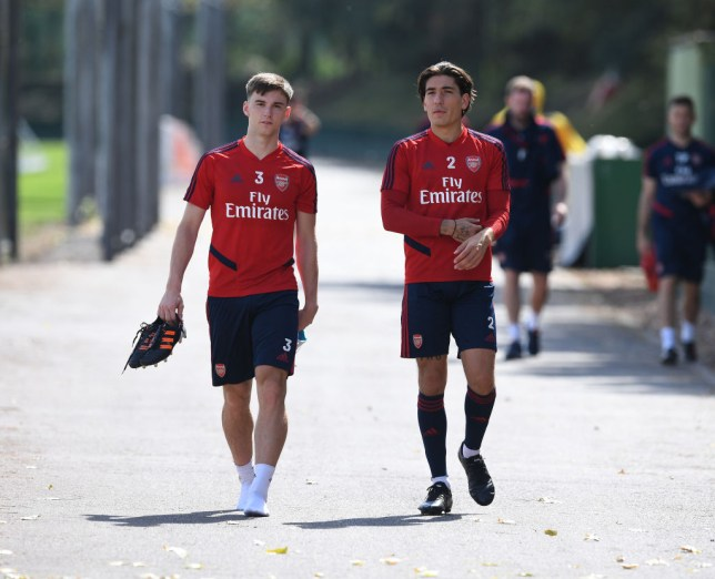 Kieran Tierney and Hector Bellerin are back in full training at Arsenal