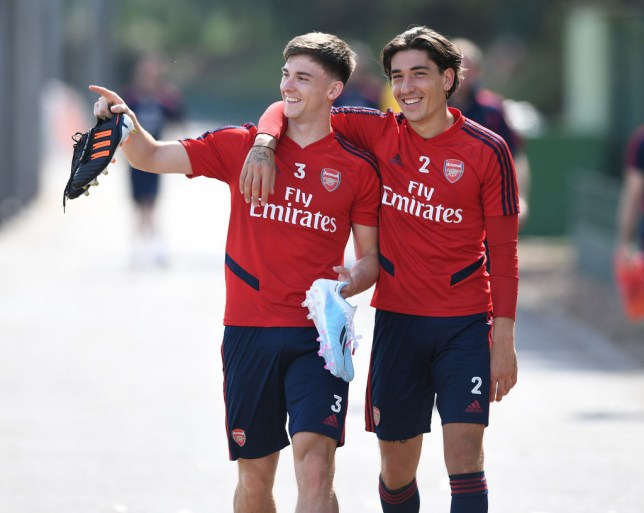 Kieran Tierney and Hector Bellerin are close to making return to full first team training