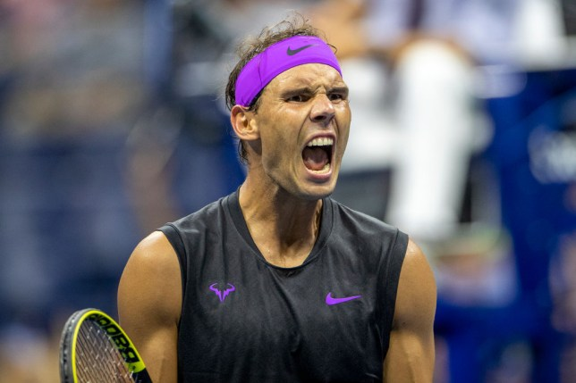 Rafael Nadal celebrates his win at the US Open
