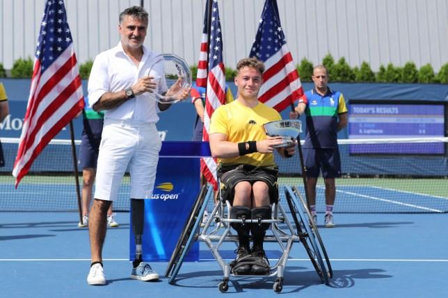 Britain's Alfie Hewett defends US Open title amid