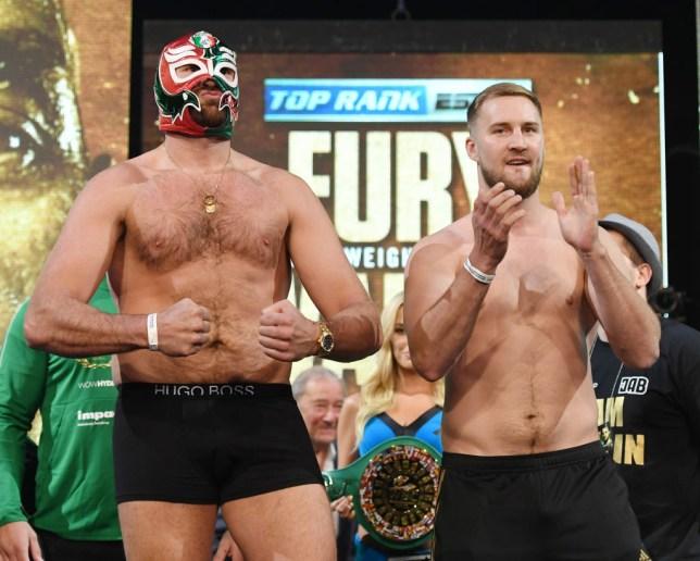 Tyson Fury will be the heavier man against Otto Wallin