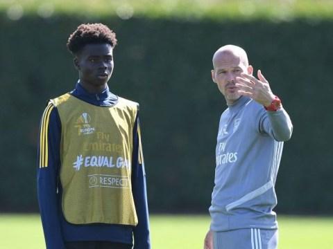 Unai Emery set to name strong Arsenal XI against Frankfurt with Bukayo Saka involved in training again