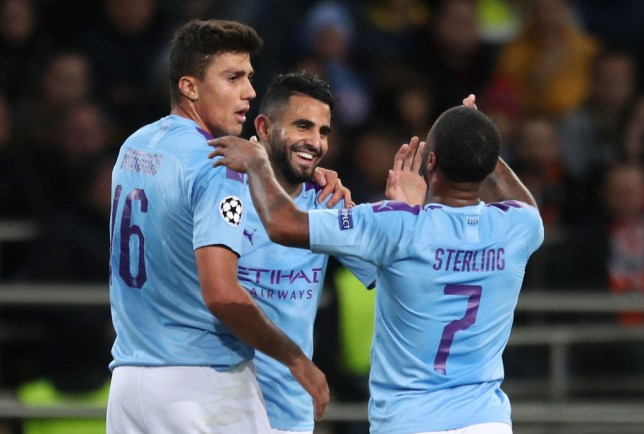 Riyad Mahrez, Rodri and Raheem Sterling