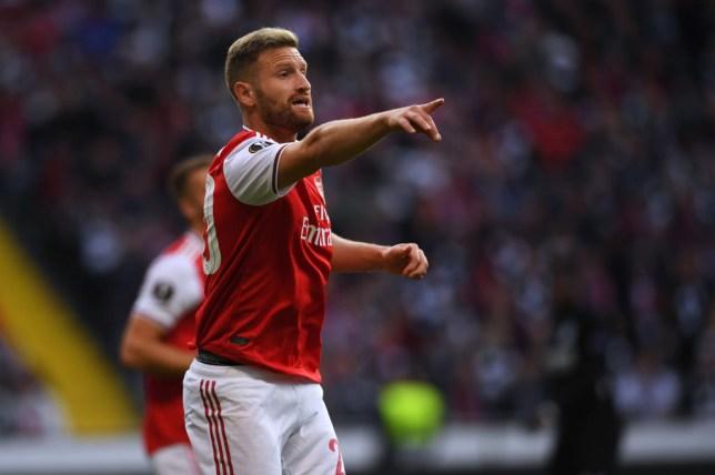 Shkodran Mustafi helped Arsenal keep a rare clean sheet against Eintracht Frankfurt