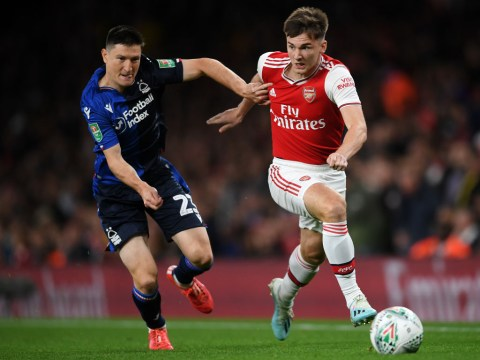 Kieran Tierney pays tribute to Celtic during Arsenal debut against Nottingham Forest