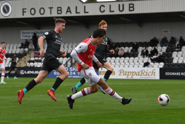 Hector Bellerin provided a lovely assist for the U23s ahead of Arsenal's trip to Manchester United