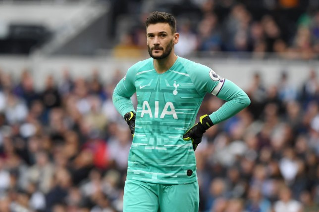 Hugo Lloris reacts after his mistake during Tottenham's win against Southampton