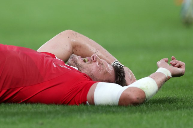 Dan Biggar lasted only 28 minutes of Wales' encounter with Australia