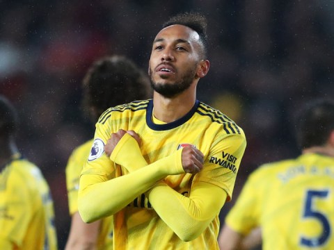 Pierre-Emerick Aubameyang knew he wasn't offside for equaliser against Manchester United
