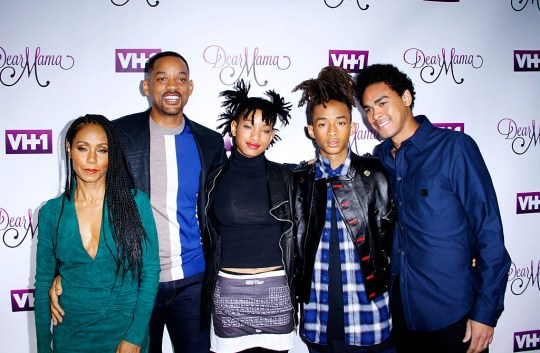 Will and Jada Smith and their kids
