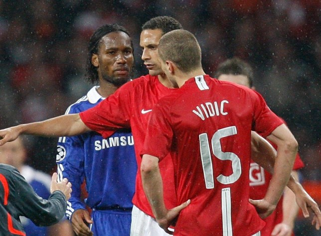 reputable site 4766a e7a2c Nemanja Vidic reveals Chelsea legend Didier Drogba wanted to ...